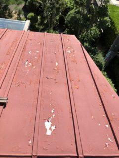 瓦棒葺き屋根塗装①